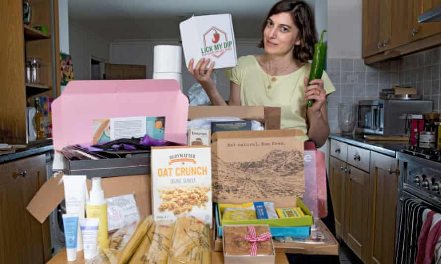Paula with some of the products.