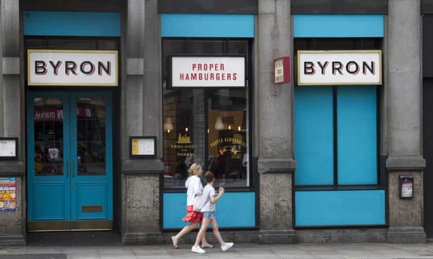 A London branch of Byron Hamburgers