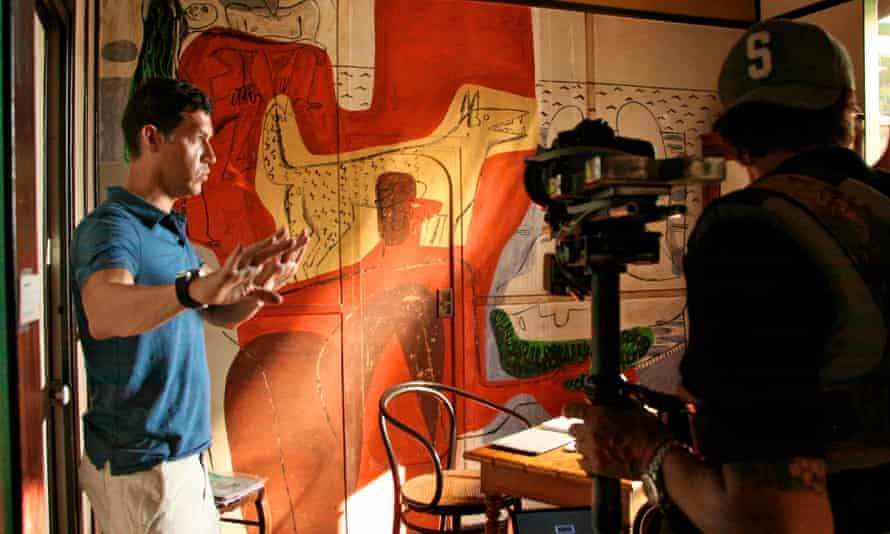 Marco Antonio Orsini filming Gray Matters as Eileen Gray's villa