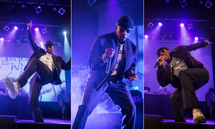 Skepta performing at the Islington Assembly Hall in London.
