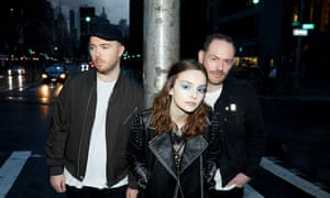 'Flawed but flecked with great moments' ... Chvrches (L-R) Martin Doherty, Lauren Mayberry, Iain Cook.