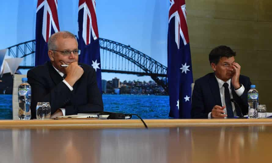 Scott Morrison and Angus Taylor