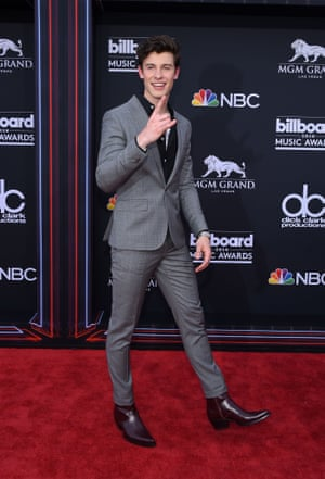 Shawn Mendes at the 2018 Billboard Music Awards in Las Vegas.