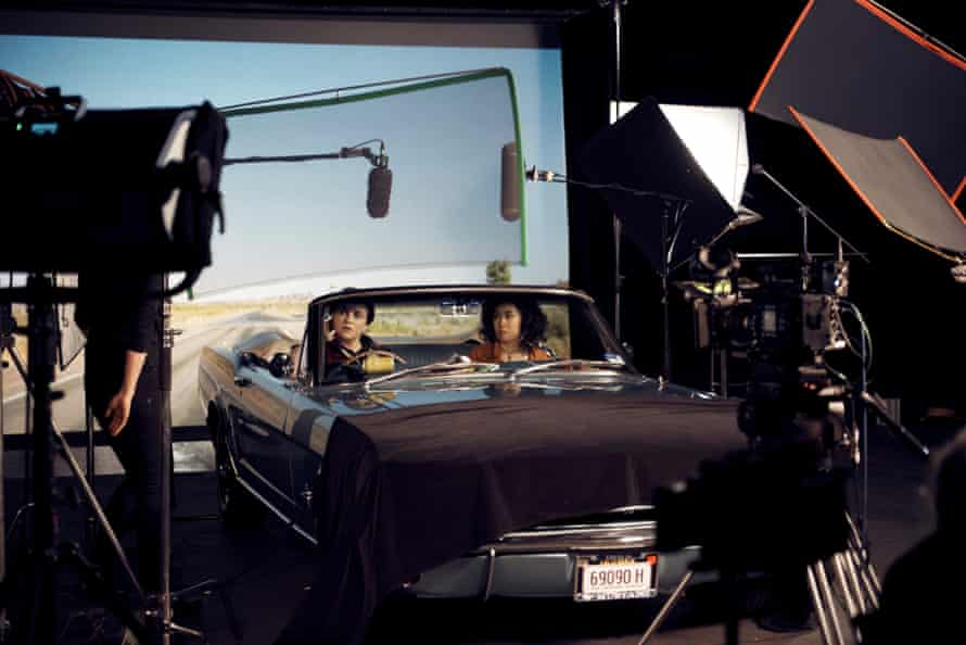 A still from the filming of Rear View