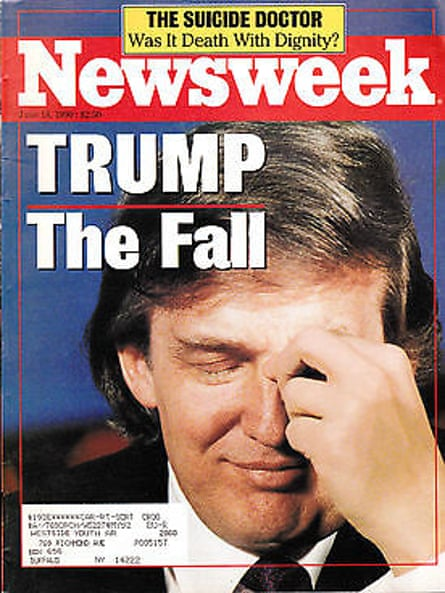 Cover of Newsweek in June 1990 following Trump's bankruptcy