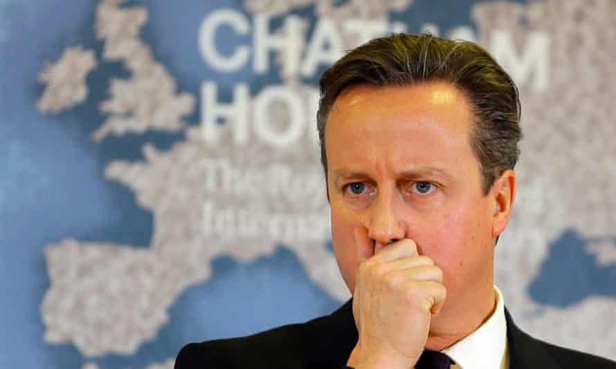 David Cameron at Chatham House in November