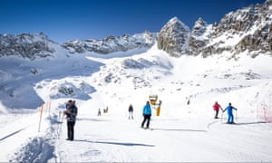 Tonale ski resort in northern Italy. Skiers will be able to return to the piste in Lombardy resorts from 15 February.