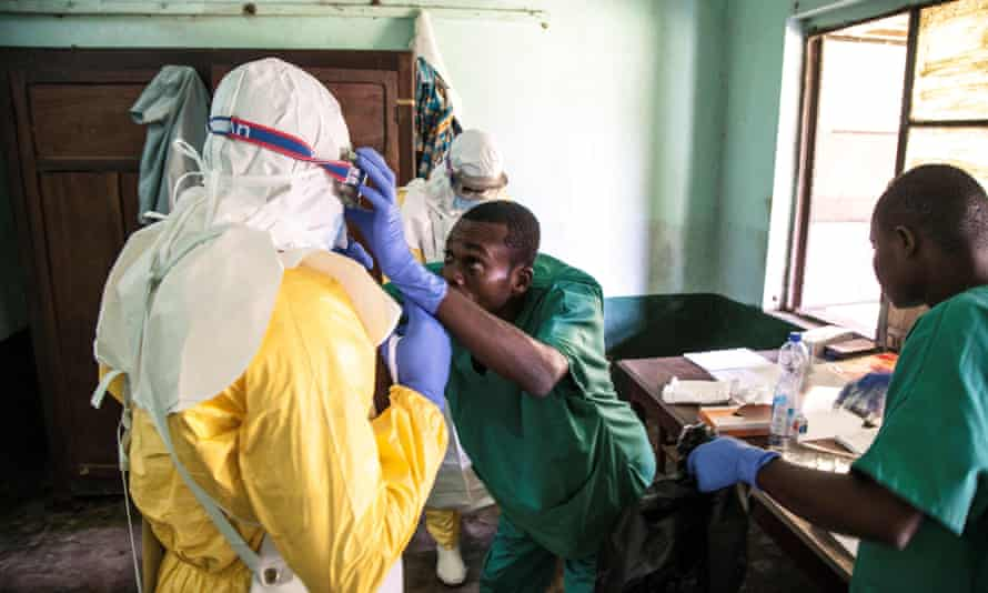 health workers in a hospital