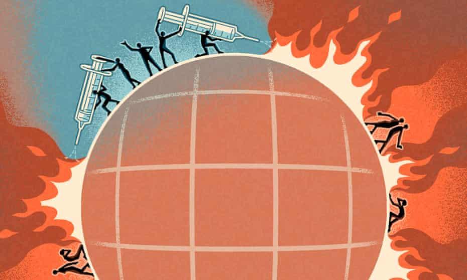Global Covid Fire illustration