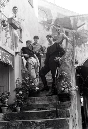 The band in St Tropez, July 1980. 'I remember drawing a pair of trousers on a piece of paper and my mother, who was a seamstress, made them for me – everything was on a shoestring,' Gary Kemp told the Guardian in 2014.