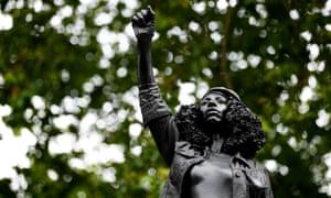 Marc Quinn's sculpture of Jen Reid, before it was taken down last week.