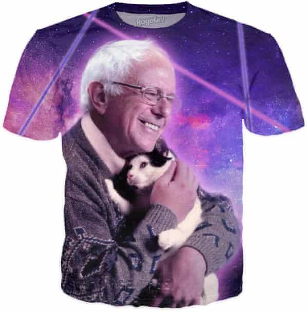 Bernie Sanders cat shirt by: Custom Creations $24.95.