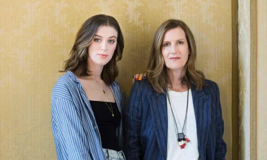 Joanna Hogg, far right, and Honor Swinton Byrne – daughter of Tilda Swinton.