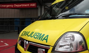 An ambulance outside an A&E department