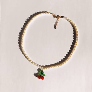 Baby cherry necklace, £60, ninfahandmade.com