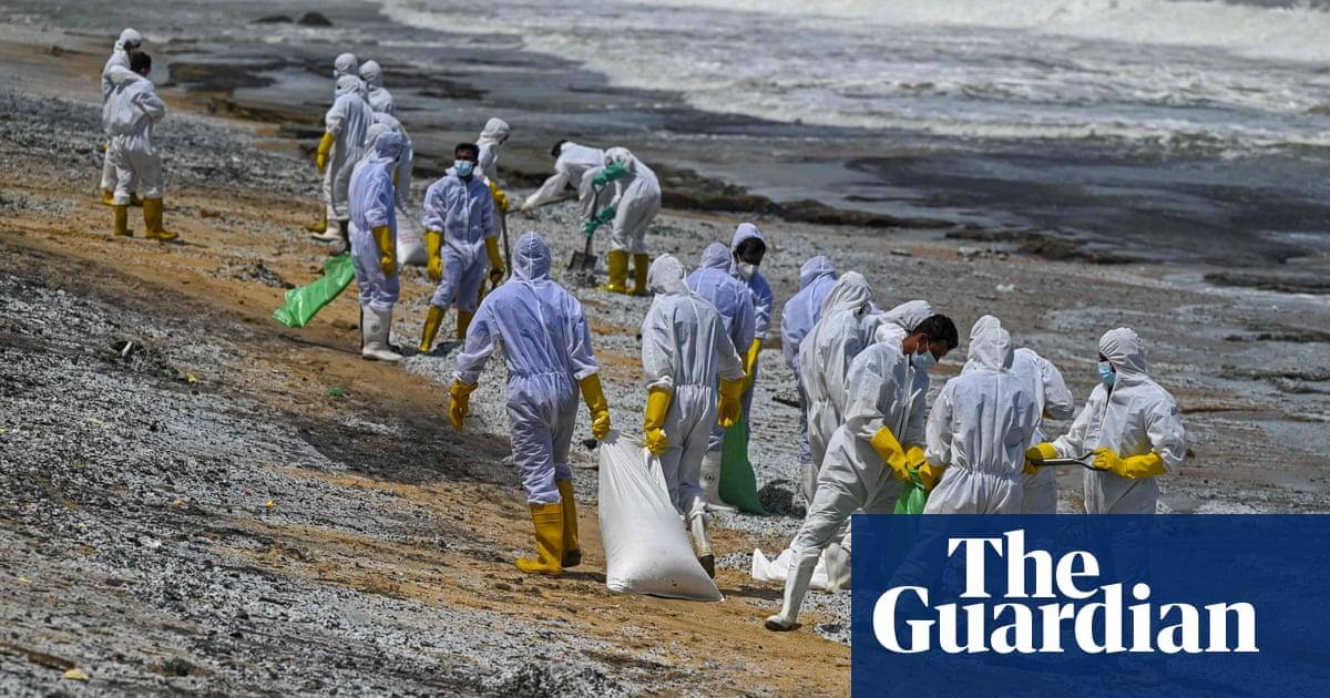 Sri Lanka faces disaster as burning ship spills chemicals on beaches