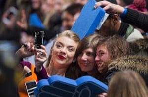 Natalie Dormer does her bit for the fans wanting a selfie