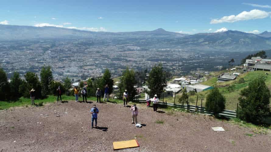 Informal settlements in mountainous landscape