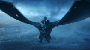 'Ratings-smashing': the Night King rides the now 'undead' dragon in the season finale of Game of Thrones.