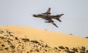 A Syrian air force jet near Palmyra earlier this year.