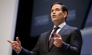Democratic frontrunner Hillary Rodham Clinton has proposed paid family leave, but Rubio says her approach is wrong.