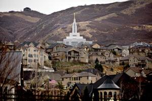 The Draper Utah LDS Temple in Draper, UT. P
