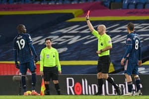 Pepe is shown a red card