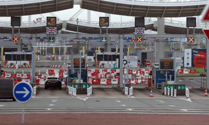 The border gate at Calais, France, for people entering the UK