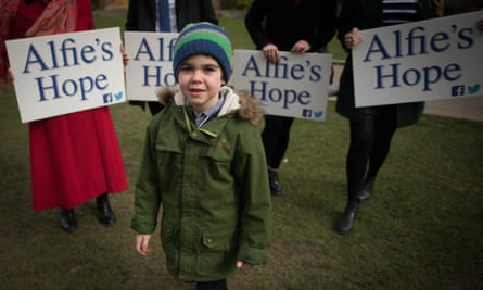 Alfie Dingley, whose mother Hannah Deacon appealed for a licence so his epilepsy can be treated with cannabis oil.