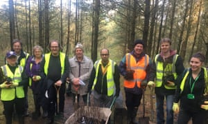 Staff and volunteers in Wigan planting trees