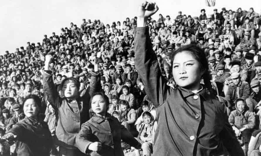 Chinese red guards during the Cultural Revolution.