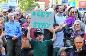 A 'Let Them Stay' rally in Melbourne
