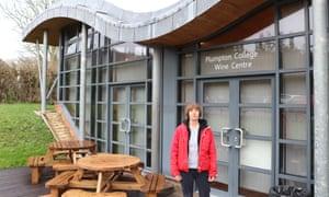 Lucy Walker outside Plumpton wine college