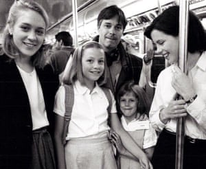 'I'd written it to warn my daughters of the perils out there, how guys are' … Chloë Sevigny, Whit Stillman and his daughters, and Kate Beckinsale during filming of The Last Days of Disco.