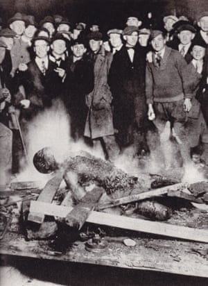 The body of Will Brown after being burned by a white crowd on September 28 29, 1919.