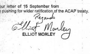 Prince Charles Letters - Elliot Morley signoff