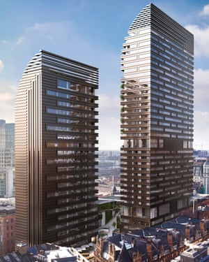 The proposed towers 'would erase different layers of this area's history, irreparably damaging the special character of the surrounding conservation area', according to Historic England.
