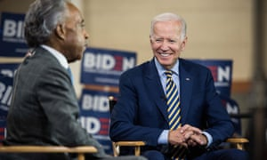 Democratic presidential candidate, former vice-president Joe Biden told civil rights leader Al Sharpton his remarks were taken out of context.