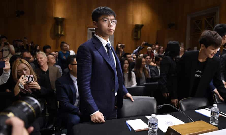 Joshua Wong at a US congressional hearing on China in September 2019