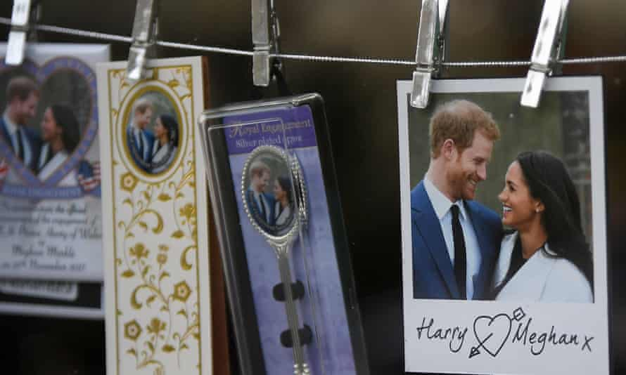 Memorabilia on sale in Windsor before Prince Harry and Meghan Markle's wedding.