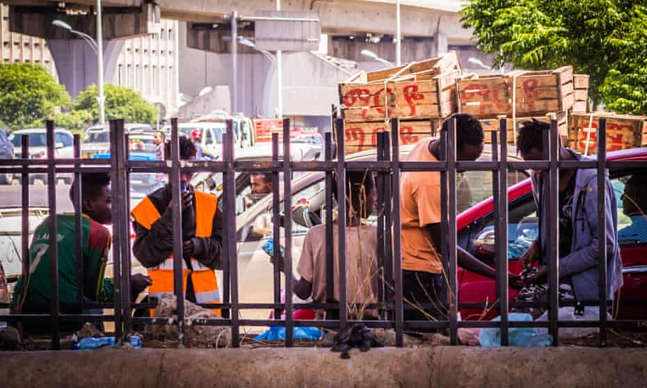 Street children in Addis Ababa