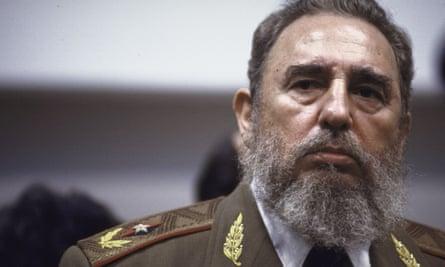 Fidel Castro during Mikhail Gorbachev's visit to Cuba in 1989