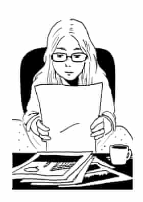 Tillie Walden's self-drawn author portrait.
