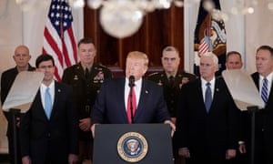 Donald Trump addressed the nation from the White House on Wednesday about the Iranian missile attacks that took place Tuesday night in Iraq.