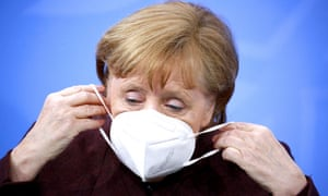 Angela Merkel after a conference with the heads of Germany's federal states.