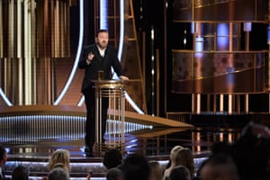 Ricky Gervais was the host of the 77th annual Golden Globes