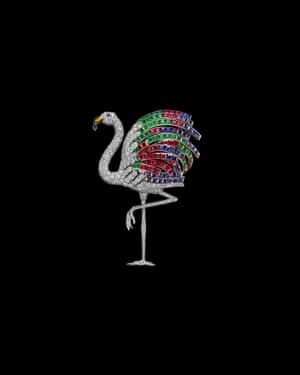 Flamingo brooch