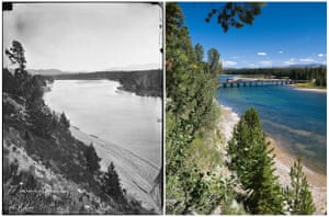 Yellowstone River, where it leaves the lake
