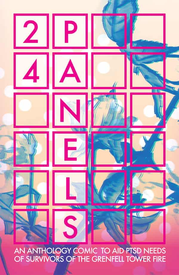 Cover of 24 Panels, an anthology comic in support of Grenfell Tower survivors.