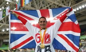 Sarah Storey celebrates a cycling gold at the Rio Paralympics